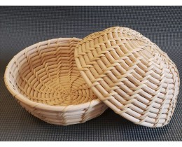 Корзинка из ротанга без единого гвоздика, размер 21*9